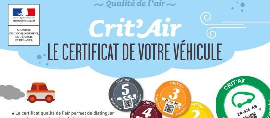 Vignette CRIT'Air: les voitures professionnelles aussi!