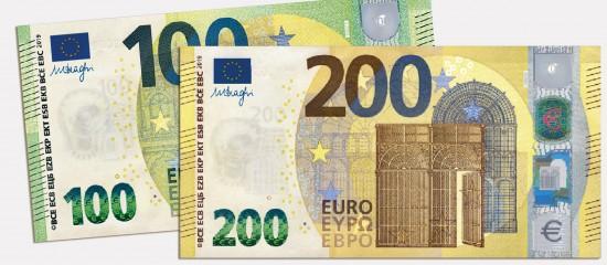 De nouveaux billets de 100€ et 200€ à compter du 28mai