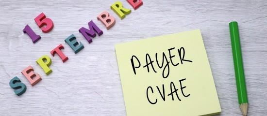 N'oubliez pas de payer votre second acompte de CVAE pour le 15septembre2020!